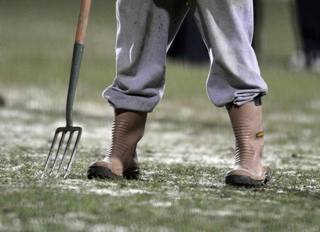 Harriers' game is off due to a frozen pitch. Photo: PA Images.