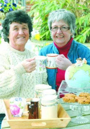 'Sorely missed': Jill Fairbrother-Millis, right, with Kath Fawke, before the car boot sale they organised in April for the Millbrook Suite Appeal.