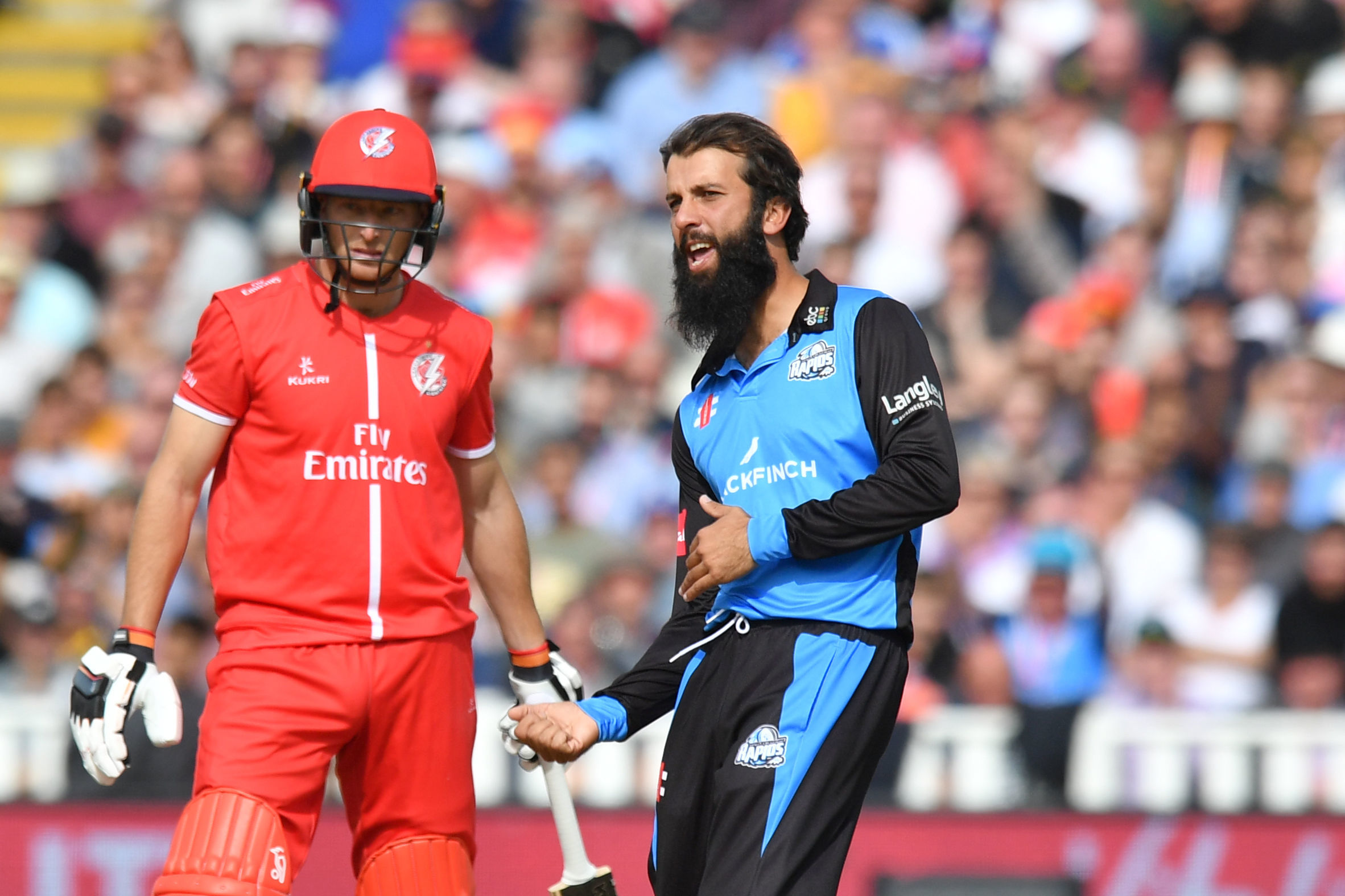 England's Moeen Ali enjoys a wicket for Worcestershire Rapids as they won last year's Vitality T20 Blast. Picture: ANTHONY DEVLIN/PA WIRE