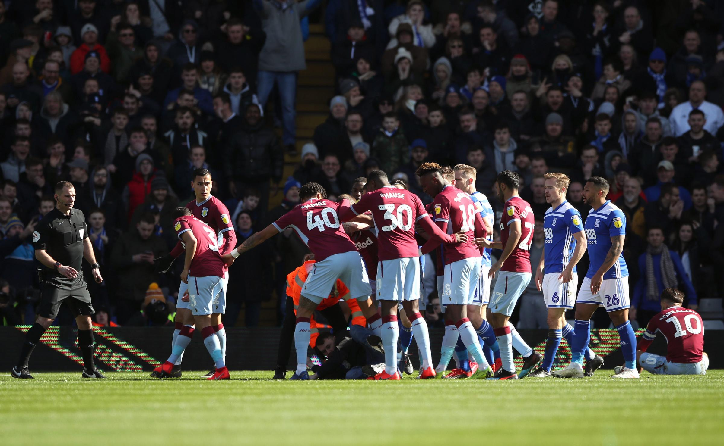 The incident happened during The game at St Andrew's. Picture: Nick Potts/PA Wire