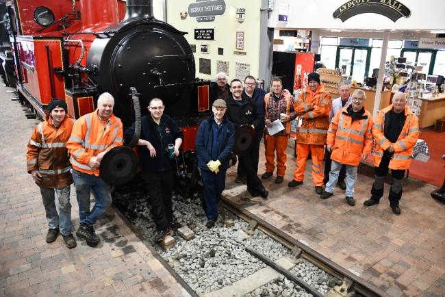 The team involved in Severn Valley Railway's biggest engine house rearrangement
