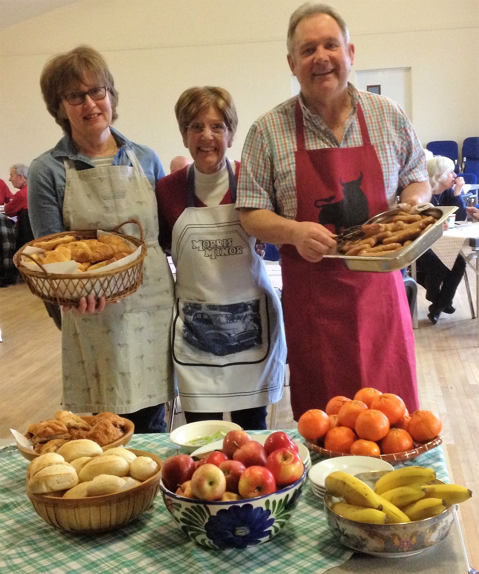 Pam Jarvie, Drene Baker, from the Wyre Forest fundraising committee, and Trefor Cook at last year's Big Breakfast