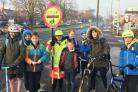 Lollipop lady Joyce Perry with Offmore Primary School pupils