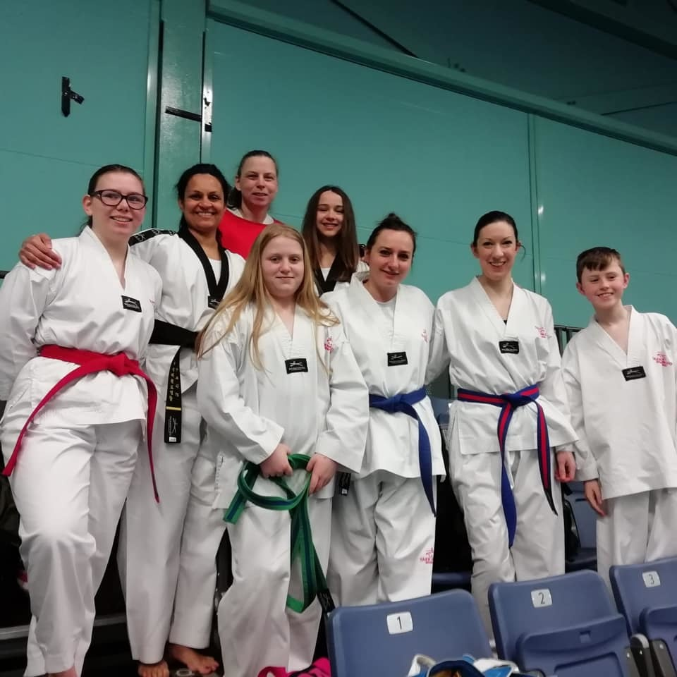 The team from Wyre Forest Taekwondo club