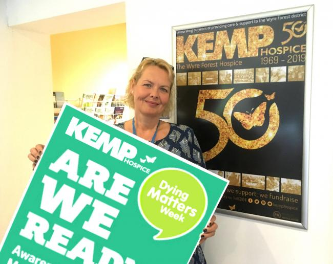 KEMP Hospice CEO Heidi Hawkins is urging people to talk about dying