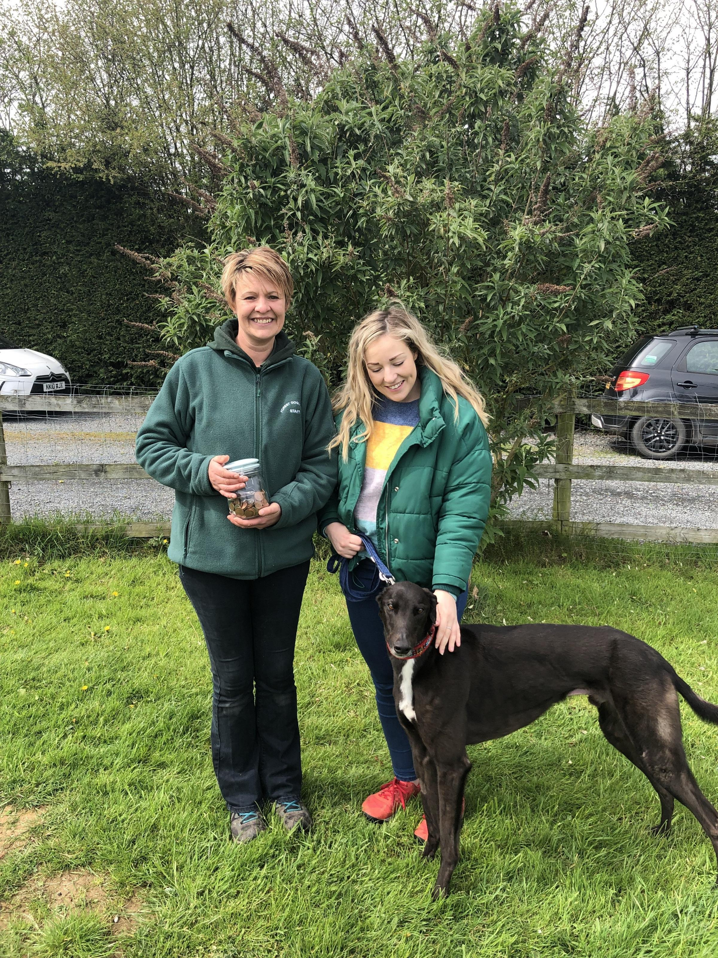 Emma Shaffery, Forest Dog Rescue manager, and Controlaccount's Carla Knights