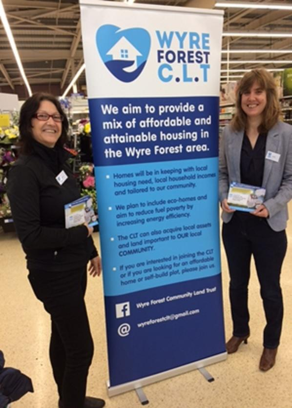 Katrina Willetts, chair of Wyre Forest CLT, and trustee Louise Parsonage
