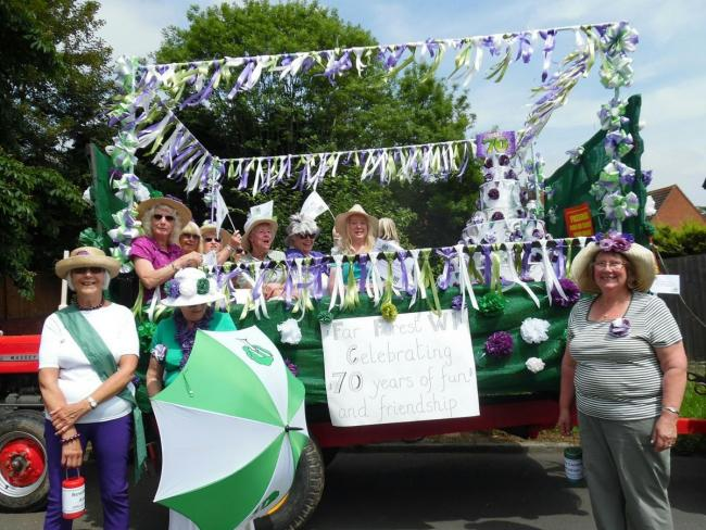 Far Forest WI with their parade float at last year's carnival. PIC: Angela Pitt