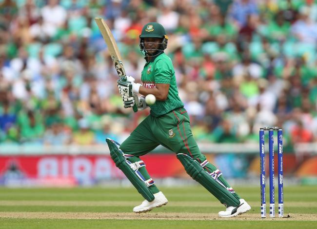 Bangladesh's Shakib Al Hasan during the ICC Cricket World Cup group stage match at The Oval, London..